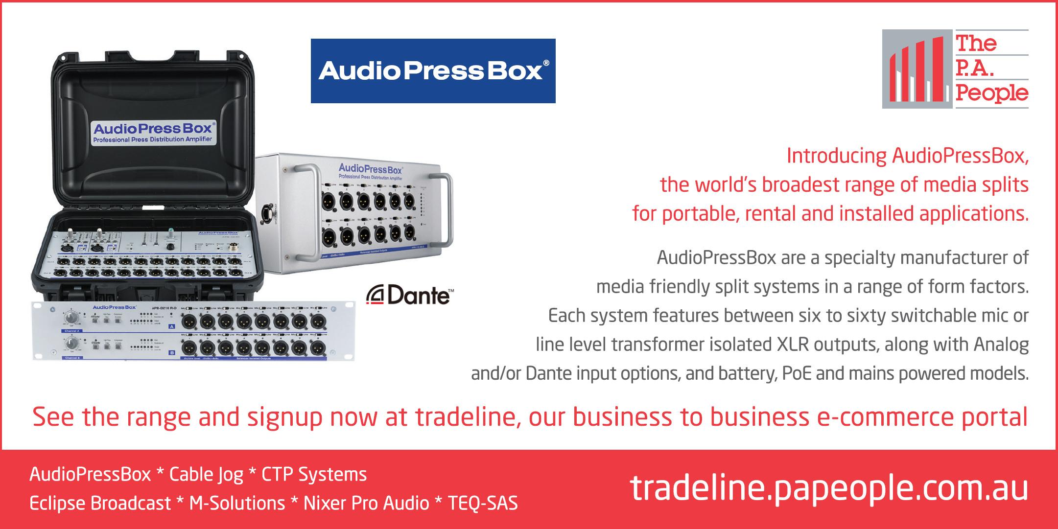 Audio Press Box Tradeline Spring Update