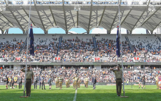 Anzac Day Sporting Event communications