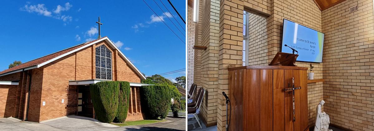 St Anne's Catholic Church AV Install